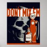 Conducción bebida anti posters