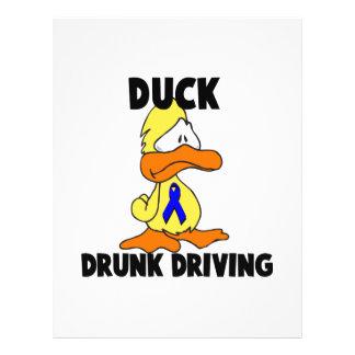 Conducción bebida pato tarjetón