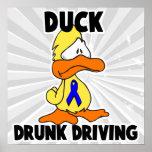 Conducción bebida pato impresiones