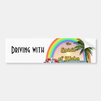 Conducción con el alcohol de la hawaiana etiqueta de parachoque