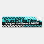 Conducción con el teléfono celular pegatina de parachoque