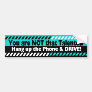Conducción con el teléfono celular pegatina para auto