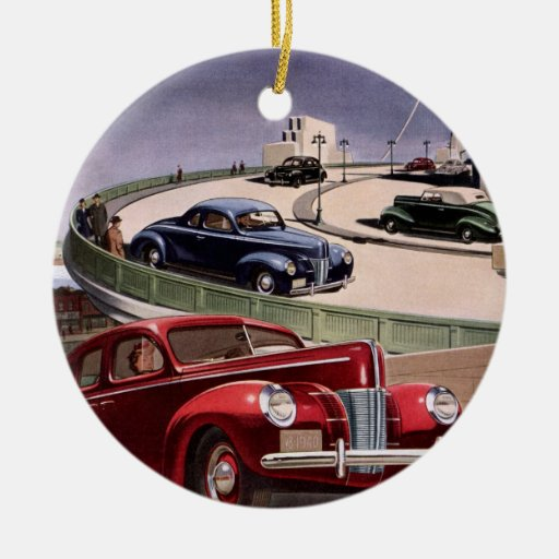 Conducción de automóviles clásica del sedán del adorno redondo de cerámica