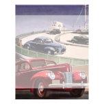 Conducción de automóviles clásica del sedán del tarjetas informativas
