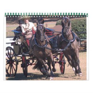 conducción de caballos calendarios de pared