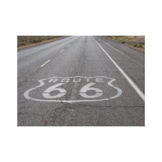 Conducción de la ruta 66 lienzo envuelto para galerías