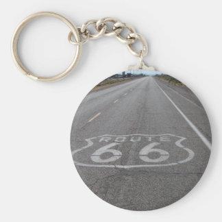 Conducción de la ruta 66 llaveros personalizados