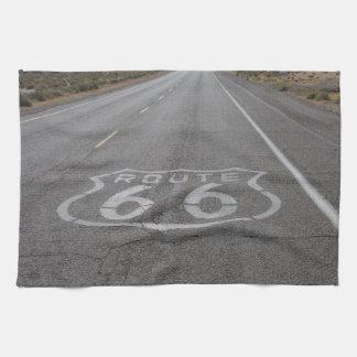 Conducción de la ruta 66 toallas de mano