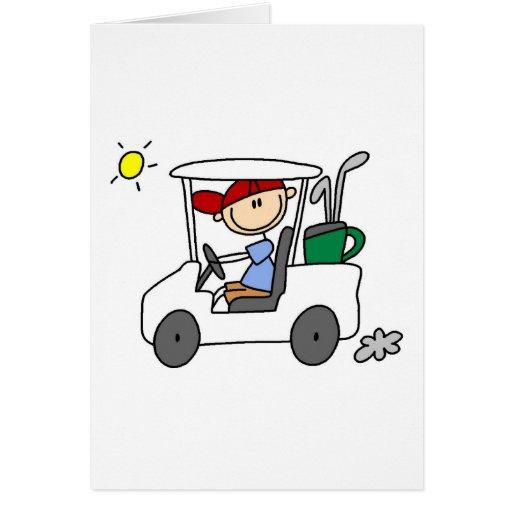 Conducción de la tarjeta del carro de golf