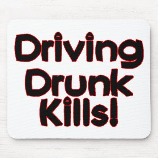 Conducción de matanzas bebidas tapete de ratón