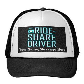 Conducción de Rideshare del conductor de la parte Gorros Bordados