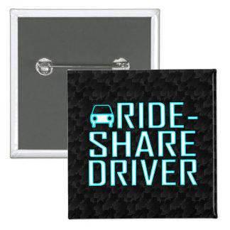 Conducción de Rideshare del conductor de la parte Pin Cuadrado