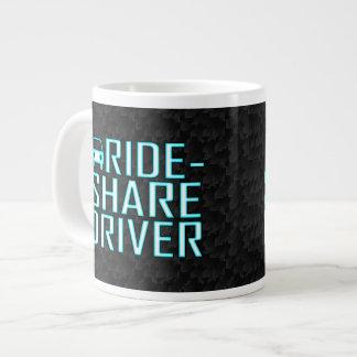 Conducción de Rideshare del conductor de la parte Taza De Café Grande