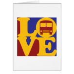 Conducción de un amor del autobús tarjetas