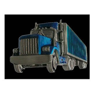conducción del camión tarjeta postal