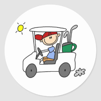 Conducción del pegatina del carro de golf