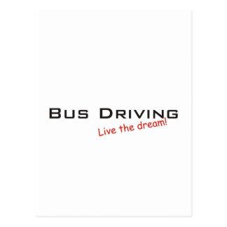 Conducción del sueño/del autobús tarjetas postales