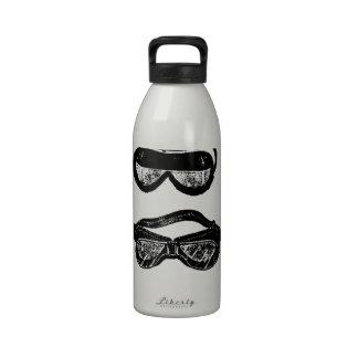 Conducción del texto de las gafas del motor botella de agua