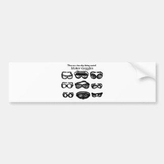 Conducción del texto de las gafas del motor pegatina para auto