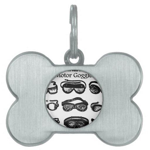 Conducción del texto de las gafas del motor placa de nombre de mascota
