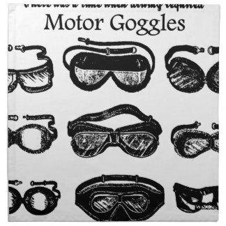 Conducción del texto de las gafas del motor servilleta