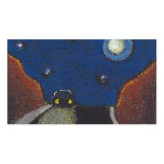 Conducción en el dibujo único del paisaje del arte tarjeta de visita