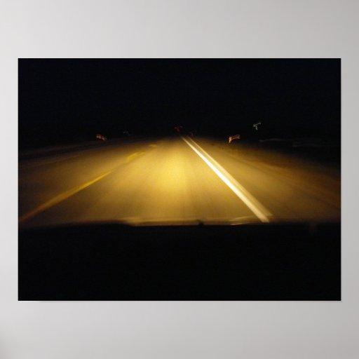 Conducción en la noche posters