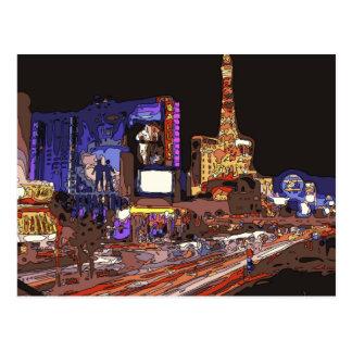 Conducción en la tira de Las Vegas Postales