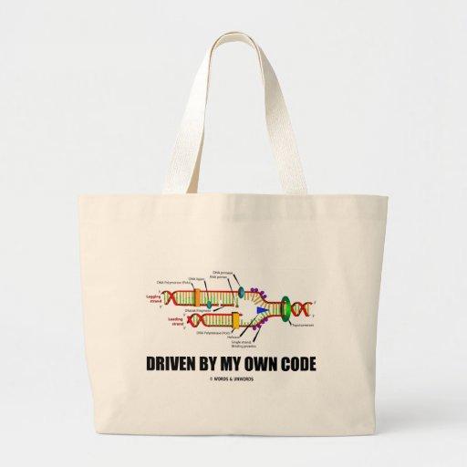 Conducido por mi propio código (réplica de la DNA) Bolsa Tela Grande