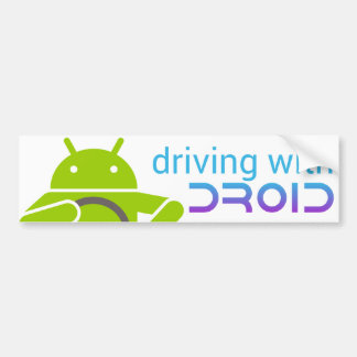 Conduciendo con DROID, pegatina para el parachoque Pegatina De Parachoque