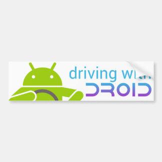 Conduciendo con DROID, pegatina para el parachoque Pegatina Para Auto