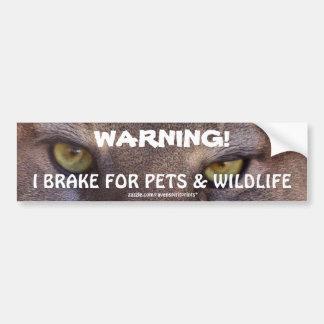 Conduciendo el puma de la seguridad de la fauna ob pegatina de parachoque