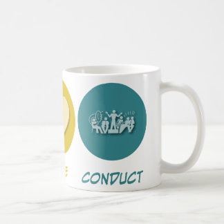 Conducta del amor de la paz taza