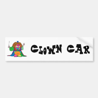 Conducter Clown Car Bumper Sticker