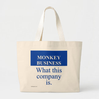 Conducting Monkey Business (3) Large Tote Bag