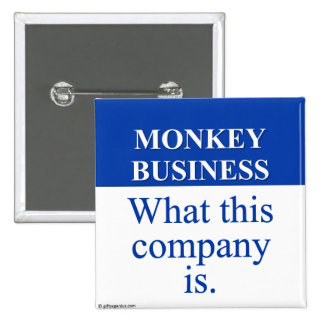 Conducting Monkey Business (3) Pinback Button