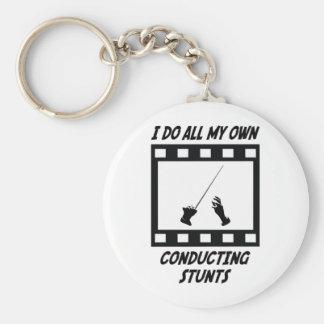 Conducting Stunts Keychain