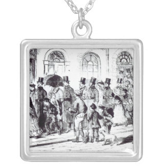 Conducting the Night Charges Silver Plated Necklace