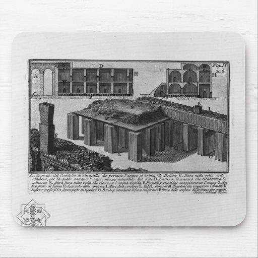 Conducto de Juan Piranesi- de Caracalla Alfombrilla De Raton