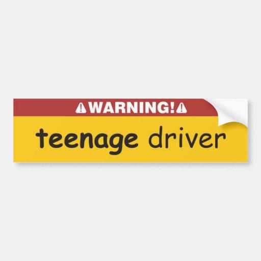 conductor adolescente pegatina para auto
