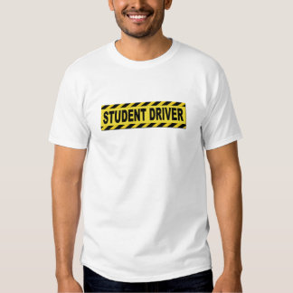 Conductor amarillo y negro del estudiante remera