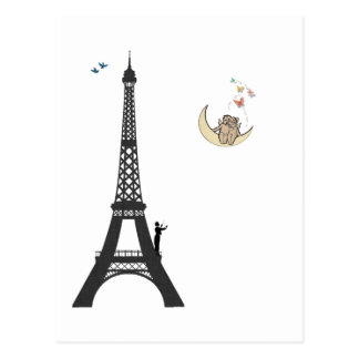 Conductor And Eiffel Tower Postcard