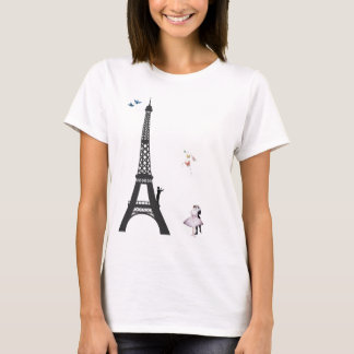 Conductor And Eiffel Tower T-Shirt
