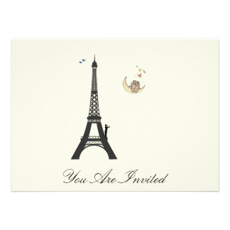 Conductor And Eiffel Tower  - Vintage Invites