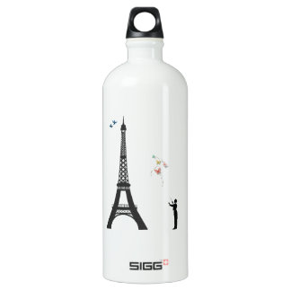 Conductor And Eiffel Tower Water Bottle