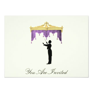 Conductor And Theater Curtain  - Vintage Invites