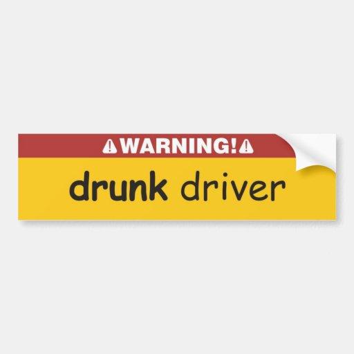conductor borracho pegatina para auto