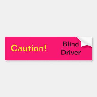 Conductor ciego pegatina para auto