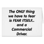conductor commerical del miedo felicitación