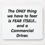 conductor commerical del miedo tapete de ratones